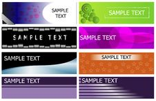 Free Banner Set Collection Royalty Free Stock Photos - 31124788