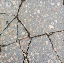 Free Deep Cracks Scratches In Concrete Royalty Free Stock Photography - 31127067