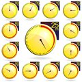 Free Stopwatch - Yellow Timers Set. Vector Illustration Stock Image - 31131651