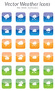 Free Vector Weather Icons Royalty Free Stock Image - 31132266