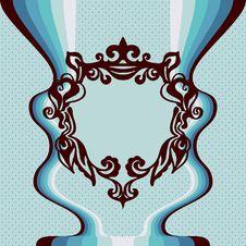 Free Template  Label Florish Frame Royalty Free Stock Photos - 31133288