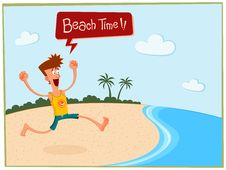 Free Summer In The Beach Royalty Free Stock Photography - 31136717