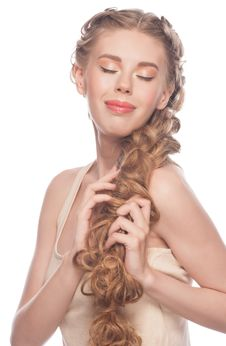 Free Woman With Hairstyle Tress Stock Photo - 31142020