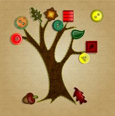Free Button Tree Fall Royalty Free Stock Image - 31146936