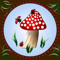 Free Ladybugs On Mushroom Stock Photos - 31151273