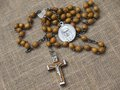 Free Old Rosary With Wooden Beads Stock Images - 31151704