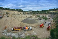 Industrial Quarry Royalty Free Stock Photos