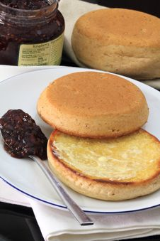 English Muffins Stock Photos