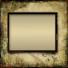 Vintage Shabby Background With Frame Of Film-strip Royalty Free Stock Images