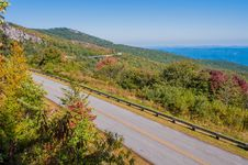 Free Blue Ridge Parkway Scenic Mountains Overlook Royalty Free Stock Image - 31177906
