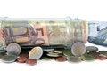 Free Euro Coins And Bank Notes Royalty Free Stock Photos - 31181278