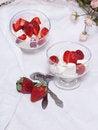 Free Strawberry Dessert With Ice Cream Stock Photo - 31184010