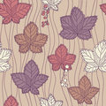 Free Seamless Pattern With Leaves And Berries Royalty Free Stock Images - 31187669