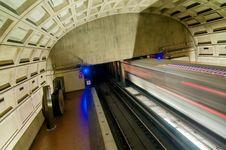 Free Washington DC Metro Tunnel Royalty Free Stock Photography - 31181127