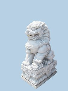 Free Stone Lion Royalty Free Stock Image - 31183146
