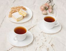 Breakfast For Two At Tea And Cakes Royalty Free Stock Photos