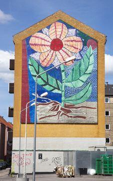Free Flower Mural, Copenhagen Royalty Free Stock Image - 31191786