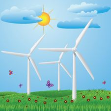 Free Wind Turbines Royalty Free Stock Photos - 31198528
