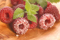 Free Sweet Raspberries And Mint Stock Image - 3128171