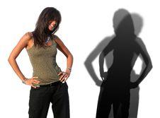 Free Italian Woman Model Shadow Stock Photography - 3120492