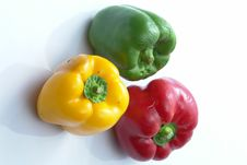 Free Green, Red & Yellow Capsicum Stock Images - 3121914