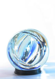 Free Crystal Ball Blue Lights Withi Stock Photos - 3123853