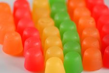 Free Gummy Candy Rainbow Royalty Free Stock Photos - 3124448