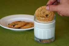 Dipping Cookies Stock Photos