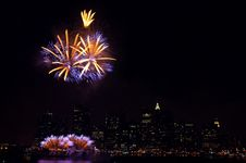 Free Fireworks In NYC 4th Of July Royalty Free Stock Photography - 3126187