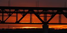 Free Sunset Bridge Royalty Free Stock Photography - 3126977