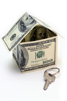 Free The House Made Of Dollars Royalty Free Stock Photos - 3127868