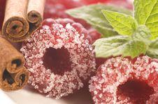 Free Sweet Raspberries, Cinnamon Royalty Free Stock Image - 3128206