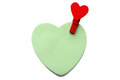 Free Heart Shape Memo With Wooden Heart Shape Clip Stock Images - 31208494