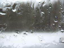 Window Glass And Rain Drops Stock Photography