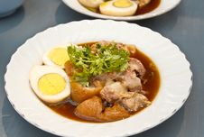 Free Stewed Pork Leg Served With Eggs Stock Images - 31208804