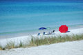 Free Beach Chairs And Umbrella On The Sand Stock Photo - 31213070