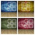 Free Set Of Empty Room With Windows Stock Image - 31214491