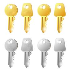Free Gold And Silver Keys Stock Photos - 31211363