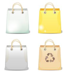 Free Four Shopping Bags Royalty Free Stock Photos - 31211388