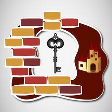 Free Key To Castle Royalty Free Stock Photos - 31211478