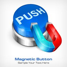 Free Blue Button With Magnet Stock Images - 31215114