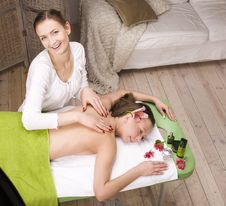 Free Stock Photo Attractive Lady Getting Spa Treatment Royalty Free Stock Images - 31217549
