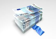 Free A Wad Of Euro Banknotes Royalty Free Stock Image - 31217556