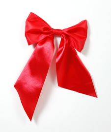 Red Big Bow Stock Photos