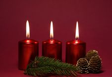 Free Red Candles Stock Photography - 31219962