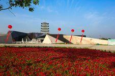 Xi An Expo Park Center Plaza Royalty Free Stock Photography