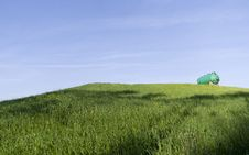 Free Green Tank On A Green Hill Royalty Free Stock Photo - 31222985