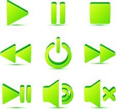 Free Green Vector Plastic Navigation Symbols Set Stock Photography - 31229262