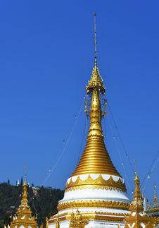 Free Pagoda Of Meahongson Province In Thailand Stock Image - 31233461