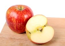 One And A Half Apple Royalty Free Stock Image
